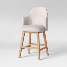 Kinston Swivel Curved Back Upholstered Counter Height Barstool - Threshold™ | Target