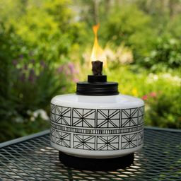 Folklore Glass Tabletop Outdoor Torch - TIKI | Target