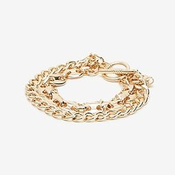 Thick Multi-Row Chain Bracelet   Express