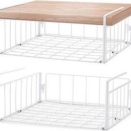SimpleTrending Under Cabinet Organizer Shelf, 2 Pack Wire Rack Hanging Storage Baskets for Kitche...   Amazon (US)