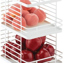 mDesign Farmhouse Decor Stackable Metal Wire Food Organizer Storage Bin Basket with Open Front fo...   Amazon (US)