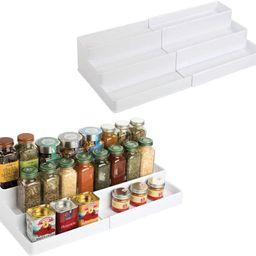mDesign Plastic Adjustable, Expandable Kitchen Cabinet, Pantry, Shelf Organizer/Spice Rack with 3...   Amazon (US)