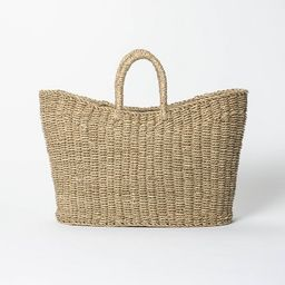 """19"""" x 9"""" x 16"""" Tapered Oval Seagrass Basket Natural - Threshold™ designed with Studio McGee   Target"""