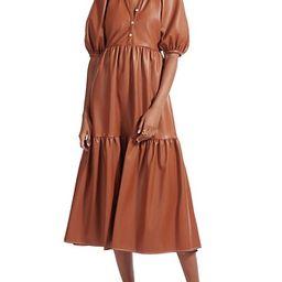 Demi Faux Leather Midi Dress   Saks Fifth Avenue