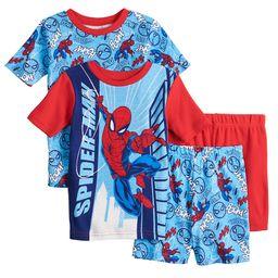 Boys 4-10 Marvel Spiderman Spins a Web Tops & Shorts Pajama Set | Kohl's