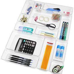 Clear Plastic Drawer Organizer Tray AcrylicDrawerOrganizer 14 PCS Desk Drawer Organizer for K... | Amazon (US)