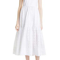 Alilah Eyelet Midi Dress | Nordstrom