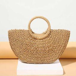 Woven Design Tote Bag   SHEIN