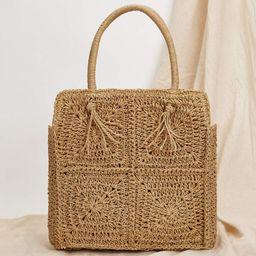 Straw Tote Bag   SHEIN