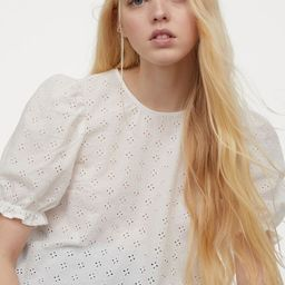Eyelet Embroidery Blouse | H&M (US)