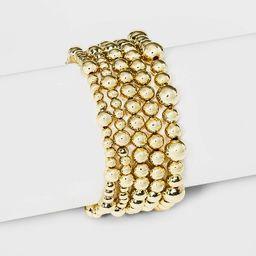 SUGARFIX by BaubleBar Gold Beaded Bracelet Set - Gold   Target