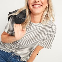 Loose Vintage Textured-Stripe Tee for Women | Old Navy (US)