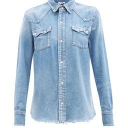 Re/Done - 50s Denim Shirt - Womens - Denim | Matchesfashion (UK)