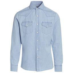 Brunello Cucinelli Men's Western Denim Shirt - Denim - Size XXXL | Saks Fifth Avenue