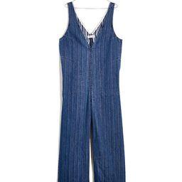 Denim V-Neck Wide-Leg Jumpsuit   Madewell