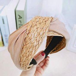 Headbands for Women Straw Knotted Headbands,Bohemian Summer Wide Headbands for Women Headwear Sty...   Amazon (US)
