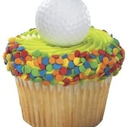 Golf Ball Cupcake Rings Party Favors (24-Pack)   Amazon (US)
