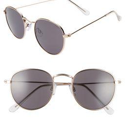 48mm Round Metal Sunglasses | Nordstrom