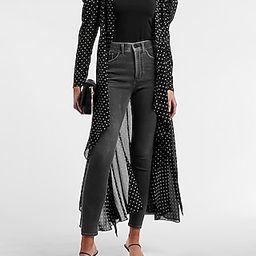 Polka-Dot Puff Sleeve Kimono Cover-Up | Express