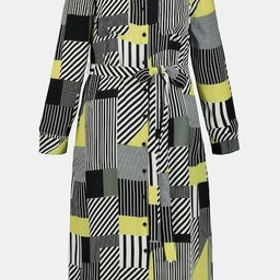 Crazy Stripe Patchwork Crepe Shirt Dress | Maxi Dresses | Dresses | Ulla Popken US & Canada | Ulla Popken
