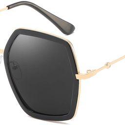Oversized Square Sunglasses for Women Hexagon Inspired Designer Style Shades   Amazon (US)