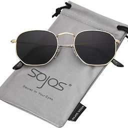 SOJOS Small Square Polarized Sunglasses for Men and Women Polygon Mirrored Lens SJ1072 | Amazon (US)