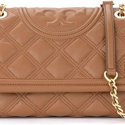 Tory Burch Fleming Shoulder Bag In Tan-colored Quilted Leather Brown | Amazon (US)