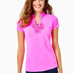 UPF 50+ Luxletic Frida Flower Polo Top | Lilly Pulitzer