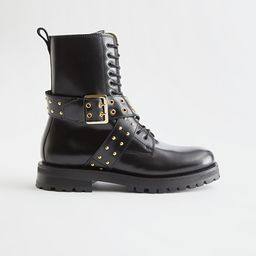 Leather Studded Strap Boots | & Other Stories