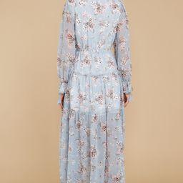 Love In Bloom Light Blue Floral Print Maxi Dress (BACKORDER JUNE)   Red Dress