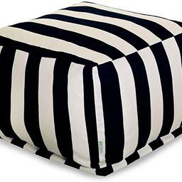 Majestic Home Goods Vertical Stripe-Black ottoman, pouf, cube, Large, | Amazon (US)