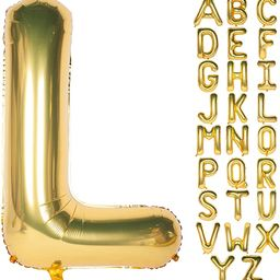Letter Balloons 40 Inch Giant Jumbo Helium Foil Mylar for Party Decorations Gold L   Amazon (US)