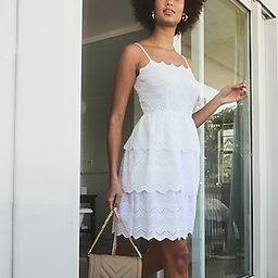 Tiered Lace Fit And Flare Dress   Express