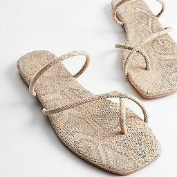 Strappy Slide Sandals   Express