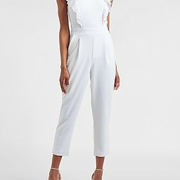 Eyelet Lace Ruffle Front Jumpsuit   Express