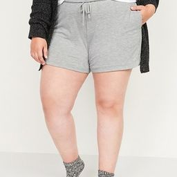 Foldover-Waist Lightweight French Terry Plus-Size Yoga Shorts -- 5-inch inseam | Old Navy (US)