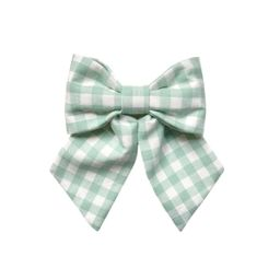 Molly Bow - Gingham   Bows & Blue