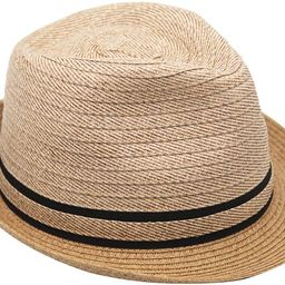 Women's Fedora Panama Short Brim Roll Up Summer Beach Sun Hat w/Ribbon Bow - Paper Straw, Adjusta...   Amazon (US)