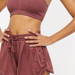 South Beach high waist shorts in dusky pink   ASOS (Global)