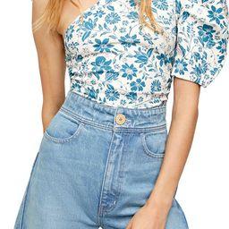 One-Shoulder Floral Print Bodysuit | Nordstrom