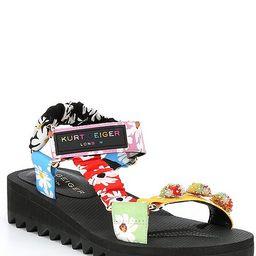 Orion Multi Floral Wedge Sandals   Dillards