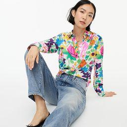 Collection slim-fit silk twill shirt in vibrant garden print   J.Crew US