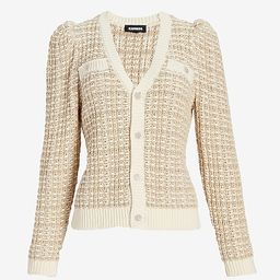 Textured Stitch Jewel Button Sweater Jacket$128.00$128.004.5 out of 5 stars5 Reviewsneutral print...   Express