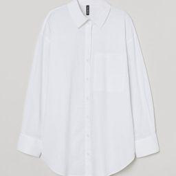 Oversized Cotton Shirt   H&M (US)