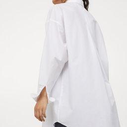 Long Cotton Shirt | H&M (US)