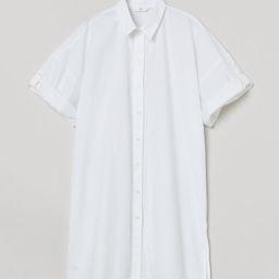 Long Cotton Poplin Shirt   H&M (US)