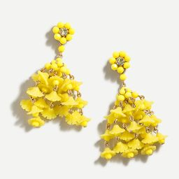 Floating flowers tassel earrings   J.Crew US