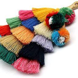 Colorful Boho Pom Pom Tassel Bag Charm Key Chain | Amazon (US)