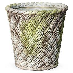 "24"" Nied Weave Basket, White Moss | One Kings Lane"