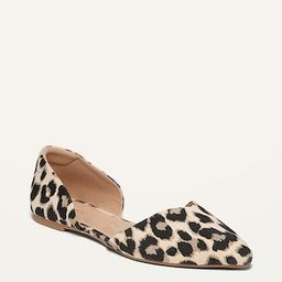 Canvas Leopard-Print D'Orsay Flats for Women | Old Navy (US)
